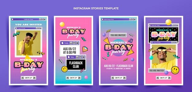 Storie di compleanno nostalgico piatto anni '90