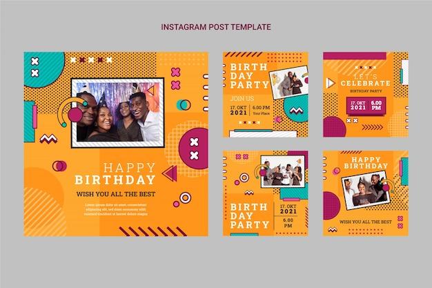 Пост в instagram с ностальгическим днем рождения в стиле 90-х
