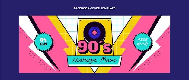 플랫 90년대 향수를 불러일으키는 뮤직 페스티벌 페이스북 커버