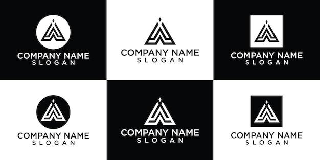 평면 로고 디자인 템플릿