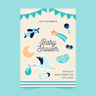 Flat a5 flyer template baby shower