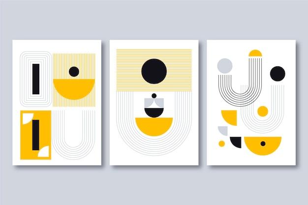 Коллекция обложек плоского абстрактного искусства