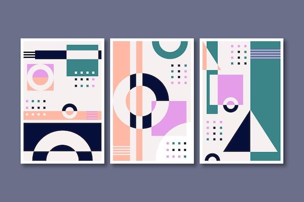 Collezione di copertine di arte astratta piatta