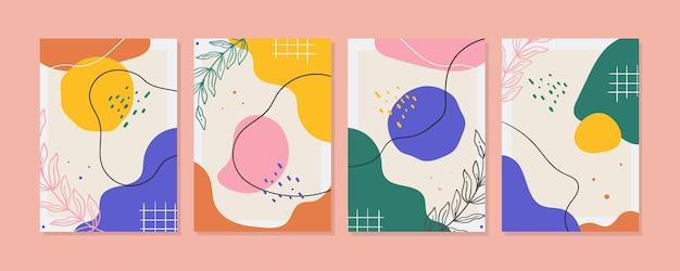 フラット抽象芸術カバーコレクション