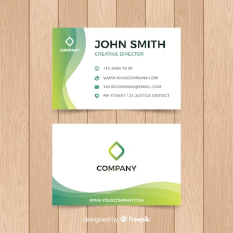 Flat abstract business card template