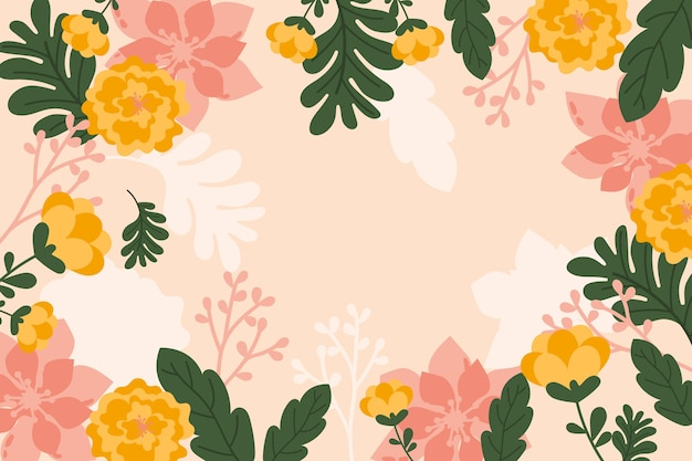 Flat abstract floral background concept