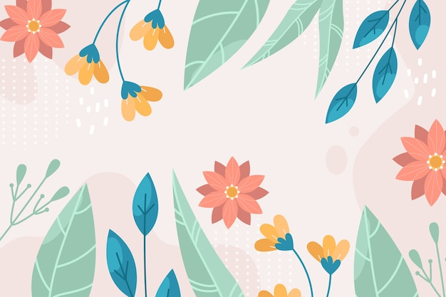 Flat abstract floral background
