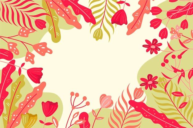 평면 추상 꽃 배경