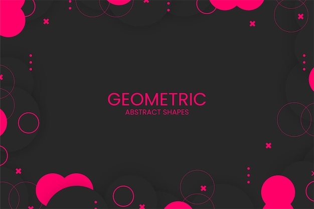 Flat abstract geometric background with abstract shapes