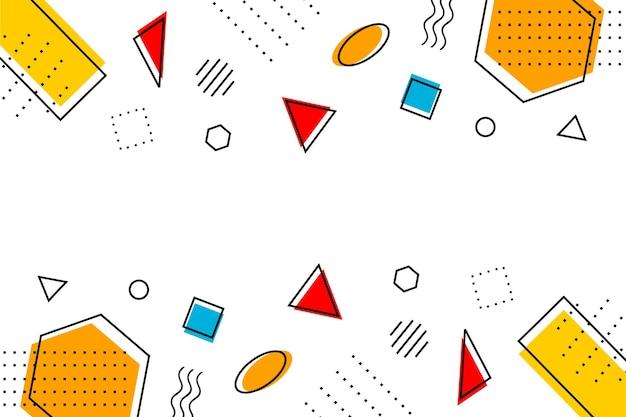 Плоский абстрактный геометрический минималистский современный фон мемфиса