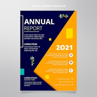 Modello di rapporto annuale immobiliare geometrico astratto piatto