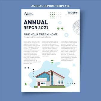 Relazione annuale immobiliare geometrica astratta piatta
