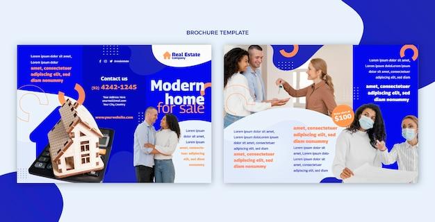 Плоская абстрактная геометрическая брошюра по недвижимости