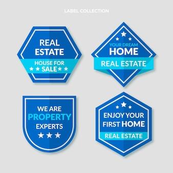 Плоские абстрактные геометрические этикетки недвижимости