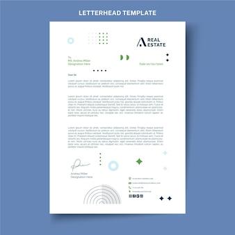 Carta intestata immobiliare geometrica astratta piatta