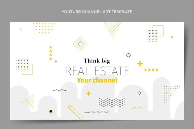 Piatto astratto geometrico immobiliare canale youtube arte