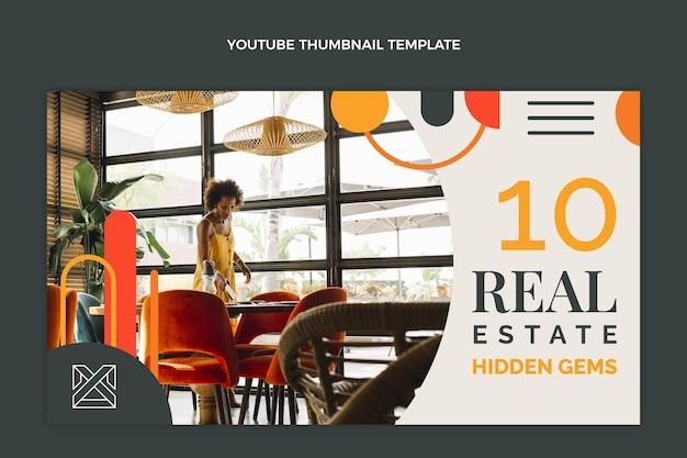 Миниатюра плоской абстрактной геометрической недвижимости на youtube