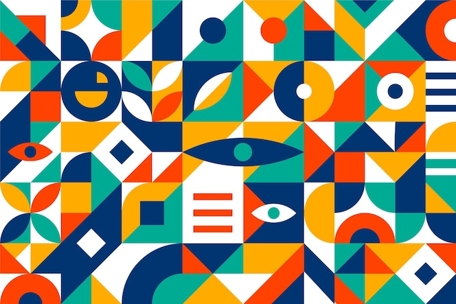 Flat abstract geometric shapes