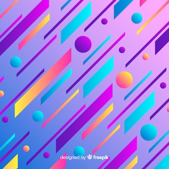 Flat abstract gradient dynamic background