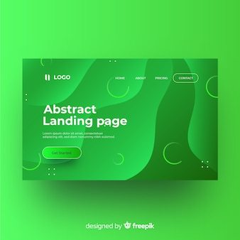 Flat abstract landing page template