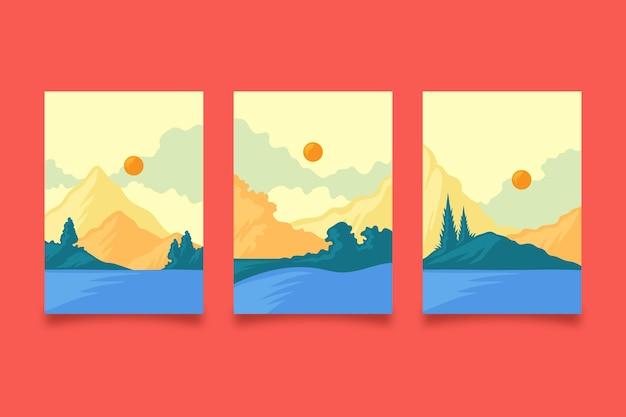 평면 추상 풍경 커버 컬렉션