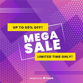 Flat abstract mega sales background