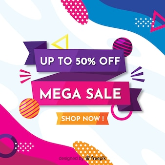 Flat abstract mega sales background