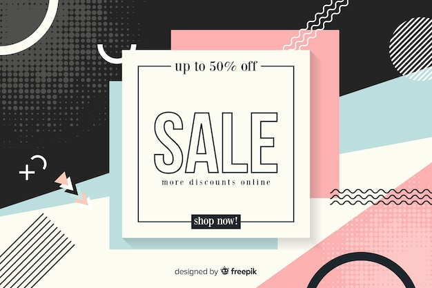 Flat abstract minimalist sale background