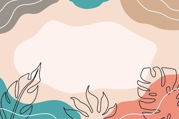 Плоский абстрактный органический фон минималистичный цвет