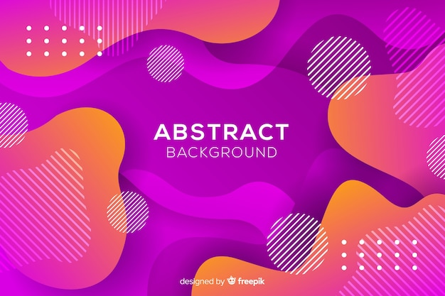 Flat abstract rounded shape background