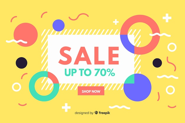 Flat abstract sale background