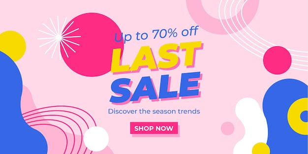 Flat abstract sale banner template