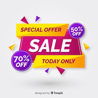 Flat abstract special sales background