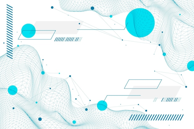 Flat abstract wireframe background