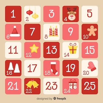 Flat advent calendar