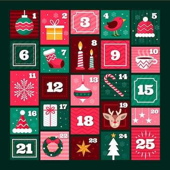 フラットアドベントカレンダー