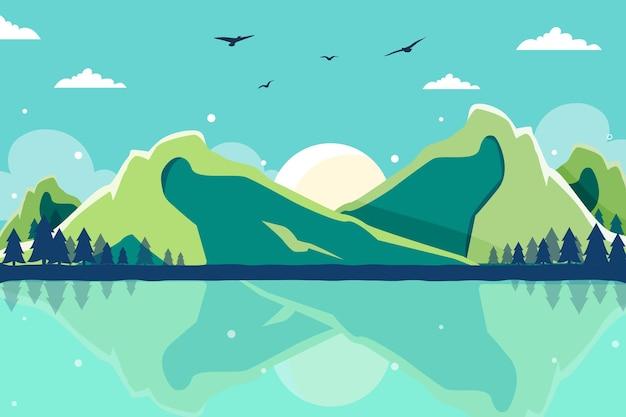 Flat adventure background
