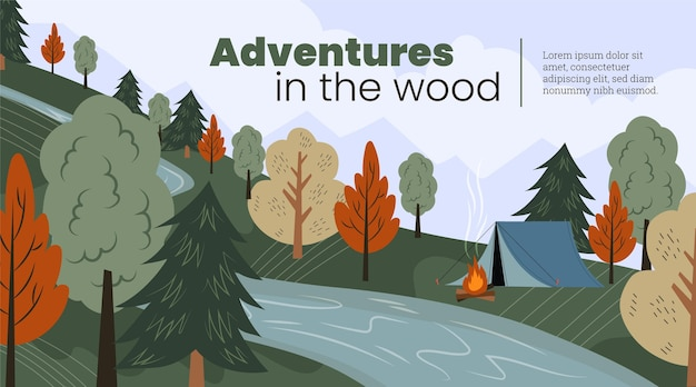 Sfondo piatto avventura