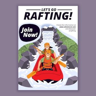 Flat adventure flyer template