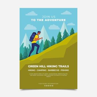 Flat adventure hiking flyer
