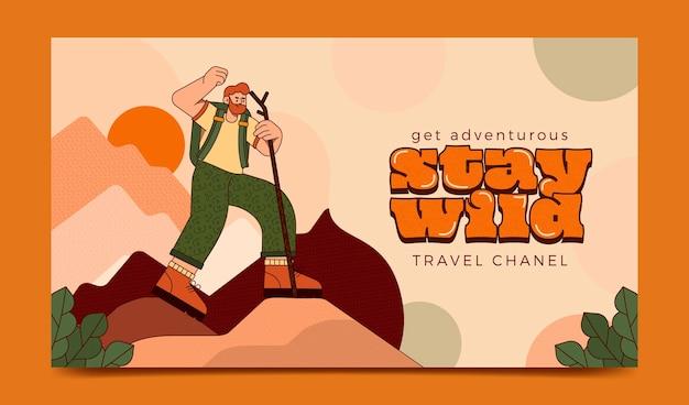 Arte del canale youtube di avventura piatta