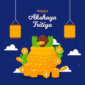 Flat akshaya tritiya illustration Free Vector
