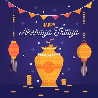 Flat akshaya tritiya illustration