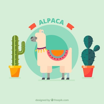 Flat alpaca background