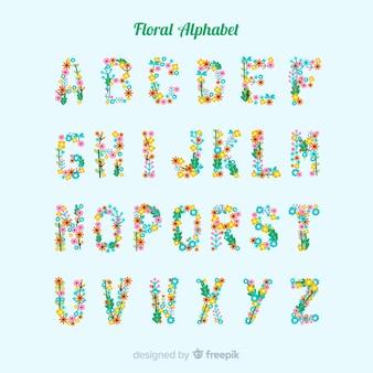 花とフラットのアルファベット