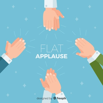 Flat applause background