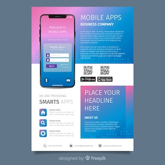 Flat application brochure template