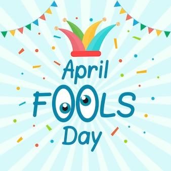 Flat april fools day concept