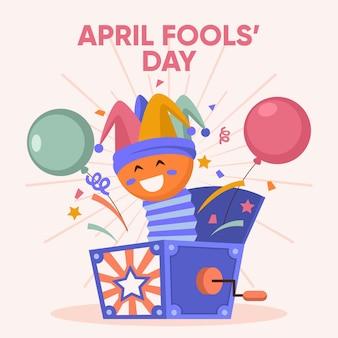 Flat april fools' day illustration