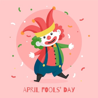Flat april fools' day illustration